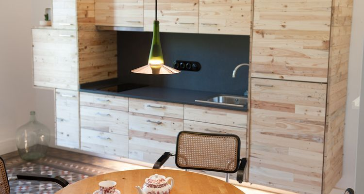 YÖK, sustainable apartments in Barcelona, incorporates LaFlor Lamp to its facilities