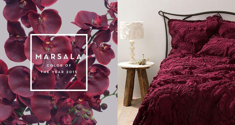 Cómo utilizar el color Marsala en decoración, el color del 2015