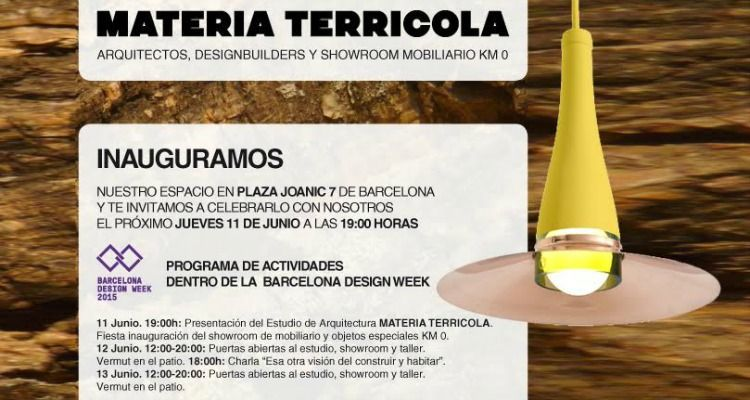 Barcelona design week 2015 materia terrícola