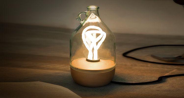 DAMA lámpara de vidrio lucirmás