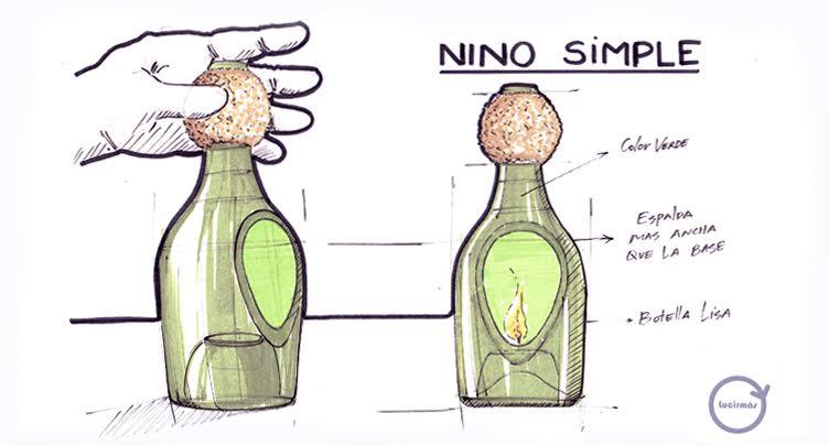dibujo nino artesanía en vidrio lucirmás
