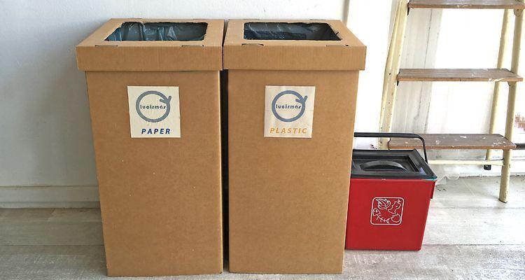 reciclar reducir residuos en la oficina