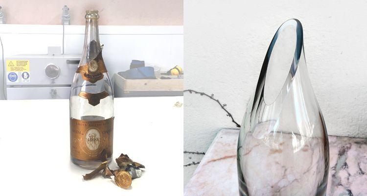 convertir botellas de vidrio hermanos roca