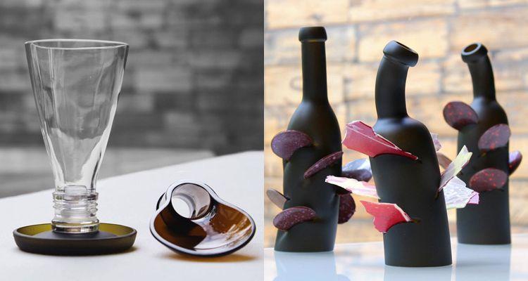 RocaRecicla soportes, vaso y cuchara celler de can roca