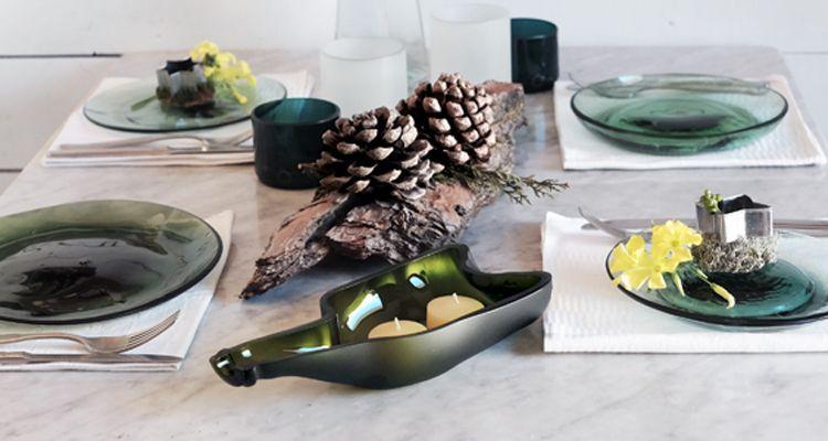 decoración de navidad sostenible mesa de navidad