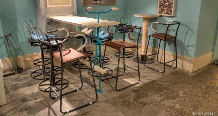bike bar upcycling interior design theme bars