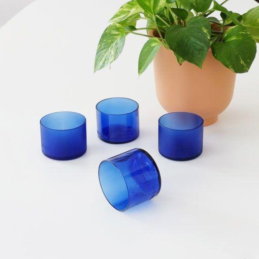 Blue Accent set de vasos artesanales lucirmás